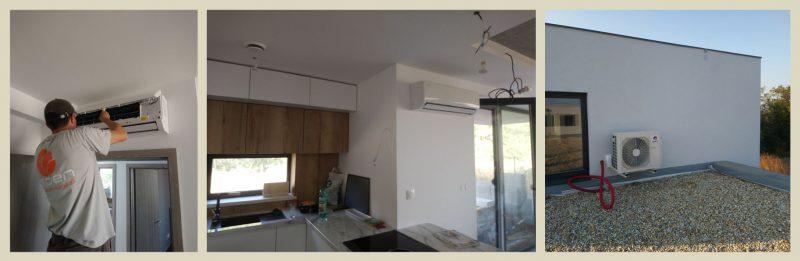 92253de67 Chladenie rodinného domu pomocou MULTI SPLIT systému s nástennými  jednotkami model GREE VIOLA. Inštalovaný výkon 8,0 kW